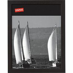 Staples® Wood Frame, 8-1/2in. X 11in., Black