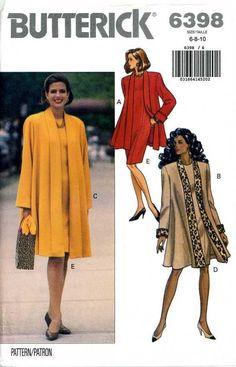 Butterick 6398 PATTERN misses Dress Jacket sz 6 8 10 Very loose fitting flared #Butterick #DressJacket