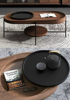 18 stunning coffee tables with built-in storage - Living in a shoebox Stylish Coffee Table, Oval Coffee Tables, Coffee Table Books, Cofee Tables, Industrial Style Coffee Table, Small Coffee Table, Oval Table, Coffee Cup, Decorating Coffee Tables