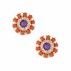 Sole Society - Women's Shoes at Surprisingly Affordable Prices Closet Accessories, Jewelry Accessories, Love Craft, Orange And Purple, Jewelery, Jewelry Box, Fashion Jewelry, Stud Earrings, My Style