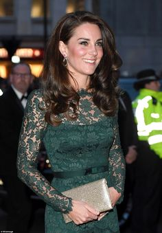 Kate was wearing a new pair of earrings by one of her favourite jewellery designers Kiki M...