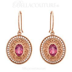 BELLA COUTURE ® - (NEW) Bella Couture® Gorgeous Genuine Pink Tourmaline 1/3CT Diamond 14k Rose Gold Dangle Drop Earrings, $1,450.00 (http://www.bellacouture.com/new-bella-couture-gorgeous-genuine-pink-tourmaline-1-3ct-diamond-14k-rose-gold-dangle-drop-earrings/)