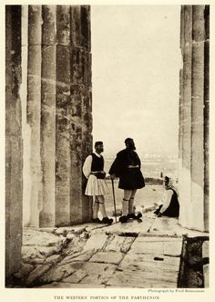 1922; The western portico of the Parthenon, a temple situated on the Athenian Acropolis, Greece. Photograph by Fred Boissonnas. (on Ebay)