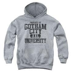 Batman: Property Of Gcu Youth Hoodie