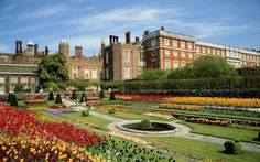 Hampton Court Palace, London    Hampton Court Palace's 60 acres of vibrant gardens that stretch all the way down to the River Thames. Don't forget to visit the Great Vine, planted in 1768 by Capability Brown, and the famous maze.
