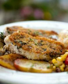 Faux Fried Pork Chops A healthy way to cook one of your favorites! | via