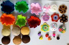 Felt cupcakes & liners made for Ali's 3rd bday - MH