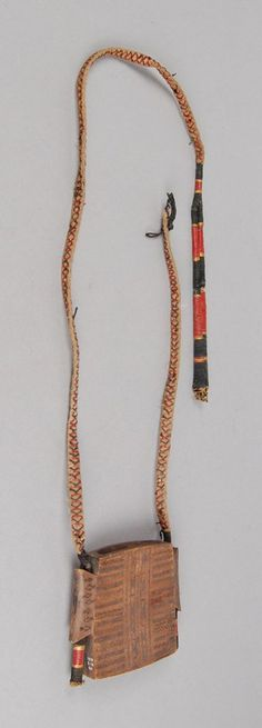Sheath (for dao?, knife?) made of wood, rattan, cotton