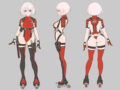 Character Model Sheet, Female Character Design, Character Modeling, Character Design References, Cute Anime Character, Character Design Inspiration, Character Concept, Character Art, Anime Art Girl