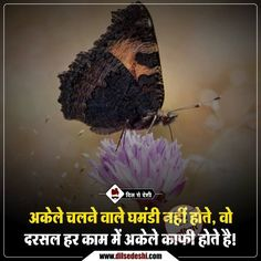 #Dilsedeshi #hindi Inspirational Quotes In Hindi, Hindi Quotes On Life, Life Lesson Quotes, Inspiring Quotes About Life, Life Quotes, Badass Quotes, Best Quotes, Interesting Facts In Hindi, Secret Love Quotes