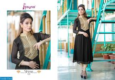56% Flat Off! Celebrate your Christmas with Shine by Psyna Embroidery Anarkali Salwar Suits