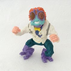 TMNT - Baxter Stockman - collectible toy - action figure - 1989 - Playmate toys -Mirage Studio by TheWhatNaught on Etsy