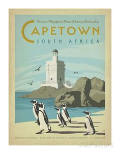 The Travel Tester vintage travel poster collection. It's time to get nostalgic with this week's retro destination: Vintage Travel Posters South Africa Posters Decor, Art Posters, Old Poster, Afrique Art, Tourism Poster, Le Cap, Kunst Poster, Cape Town South Africa, Primates
