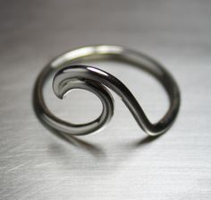 Wave Ring, Beach Jewelry, Surfer Ring, Nautical Jewelry by JenniferWood on Etsy https://www.etsy.com/listing/157142570/wave-ring-beach-jewelry-surfer-ring