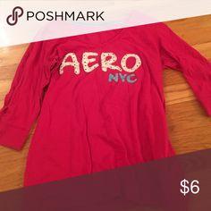 "Aeropostale pajama shirt Pink pajama shirt that says ""aero NYC"" Aeropostale Pajamas Pajama Tops"