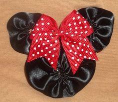 Walt Disney Minnie Mouse Hair Clippie | Jenstardesigns - Accessories on ArtFire