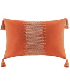 colorful kilim orange zig zag decorative pillow - without the tassels of course