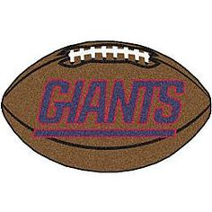 New york Giants football shaped mat