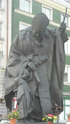 Statue of John Paul II in Kalisz, Poland