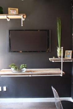 Like this idea of blending the tv with the wall shelving