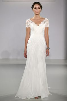 Maggie Sottero - Bridal Fall 2013    TAGS:Embroidered, Floor-length, Short sleeves, White, Maggie Sottero, Lace, Silk, Tulle, Glamour