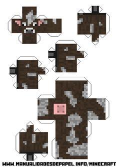 minecraft para armar en papel animales cerdo - Buscar con Google