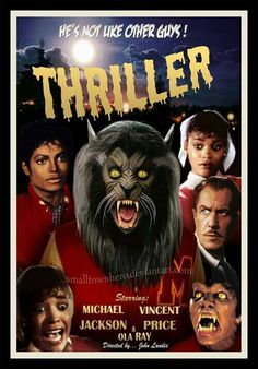 Thriller poster from the '80's