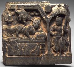 The Conception of the Buddha-to-be in Queen Maya's dream, 100–300. Pakistan; ancient region of Gandhara. Phyllite. Courtesy of the Asian Art Museum, The Avery Brundage Collection, B64S5.