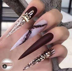 AMAZING GORGEOUS NAILS ART DESIGNS 2019 The manicurist designed the manicure color to be beautiful. It feels like a part of the canvas is directly placed on your nails, and it is also equipp. Dope Nails, Bling Nails, Stiletto Nails, Swag Nails, Grunge Nails, Manicure Colors, Nail Jewelry, Luxury Nails, Best Acrylic Nails