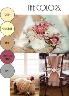 winter wedding colors- shades of mauve, gold, and shades of beige and champagne Winter Wedding Colors, Fall Wedding, Our Wedding, Dream Wedding, Wedding Colours, Winter Colors, Wedding Things, Rustic Wedding, Wedding Stuff