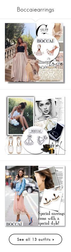 """Boccaiearrings"" by merima-k ❤ liked on Polyvore featuring boccaiearrings, Oscar de la Renta, Alexandre Birman, MANGO, Martha Stewart, Chloé, ASOS, Chanel, Rebecca Minkoff and Louis Vuitton"