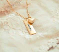 Blessed Necklace With Heart Charm by BeautyofHeart on Etsy Hand Stamped Metal, Arrow Necklace, Pendant Necklace, Leather Stamps, Christmas 2014, Metal Stamping, Heart Charm, Blessed, Charmed