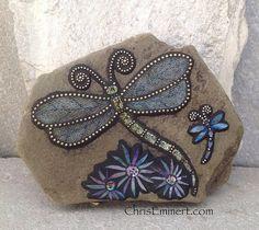 Mosaic Dragonfly Garden Stone