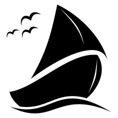 Abstract Creative Sailing Boat Artwork