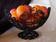 Wrought Iron Decorative Fruit Bowl On Etsy 20 00