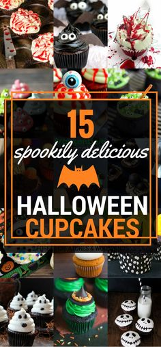 No matter, if you're hosting a big party or you just fancy a little treat, these spookily delicious Halloween cupcakes will be an absolute winner. Scary Halloween Cakes, Halloween Cupcakes Easy, Halloween Snacks, Halloween 2018, Fall Halloween, Halloween Crafts, Happy Halloween, Halloween Party, Halloween Ideas