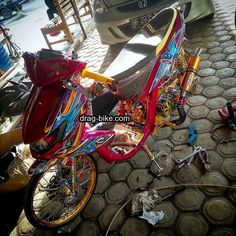 Satria Fu, Drag Bike, Drag Racing, Airbrush, Bullet, Honda, Motorcycle, Bullets, Biking