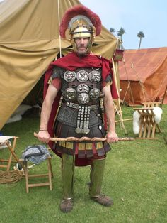 Roman Centurion of the 2ndCentury AD portrayed by Dave Michaels of the Legion Six Historical Foundation.
