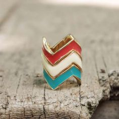Chevron Stacks Ring