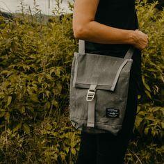 Convertible Mini Flap Pack Charcoal