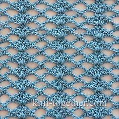 Crochet Shell Stitch and Mesh