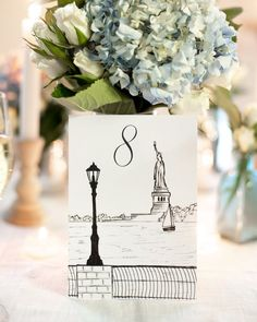 Hand Drawn Unique New York City Icon & Neighborhood wedding table numbers by Pineapple Street Designs. Perfect for a NYC themed wedding. Little Italy Ferrara's wedding table card drawing Hand Drawn Unique N Card Table Wedding, Wedding Table Numbers, Wedding Tips, Our Wedding, Wedding Planning, Free Wedding, Handmade Wedding, Wedding Ceremony, City Wedding Themes