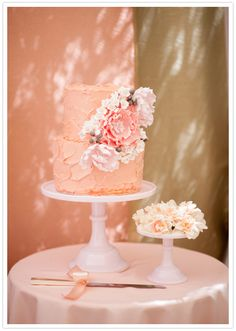 Sweet Bloom peach and floral cake