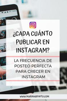 ¿Cada cuánto publicar en Instagram? La frecuencia de posteo perfecta para crecer: - #redessociales Feeds Instagram, Tips Instagram, Instagram Marketing Tips, Content Marketing Tools, Social Media Marketing, Digital Marketing, Facebook Marketing, Instagram Captions For Friends, More Instagram Followers