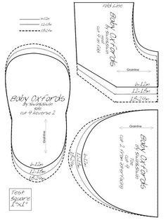 Felt Baby Shoe Pattern