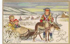 julekort med samisk motiv