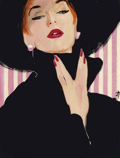 Advertisement For 'Peggy Sage', René Gruau