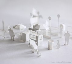 Architectural paper model of NYC