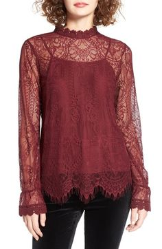 e30e46de5b13e Wayf Swing Street Lace Blouse available at  Nordstrom Lace Blouse Styles