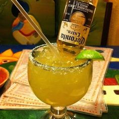 It's almost #happyhour we are making #beer #margarita . What are you doing for #fridaynight fun? ...... A delicious cocktail recipe for Beer Margarita with limeade Corona lager vodka and water.  Ingredients  6 oz can frozen limeade concentrate 12 oz bottle Corona lager 6 oz vodka 6 oz water  Method  In a large pitcher mix the Corona and limeade mixture (follow the directions on the frozen limeade except substitute one can of water with one can of vodka - cheap is fine). Serve in frosted mugs…